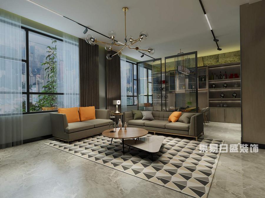 泰安颐和院子-现代简约-客厅