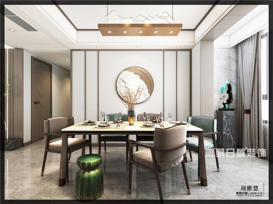 建业十八城-130平米-中式-餐厅-装修效果图