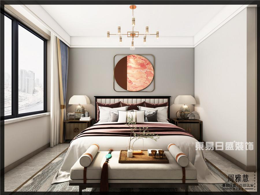 建业十八城-130平米-中式-卧室-装修效果图