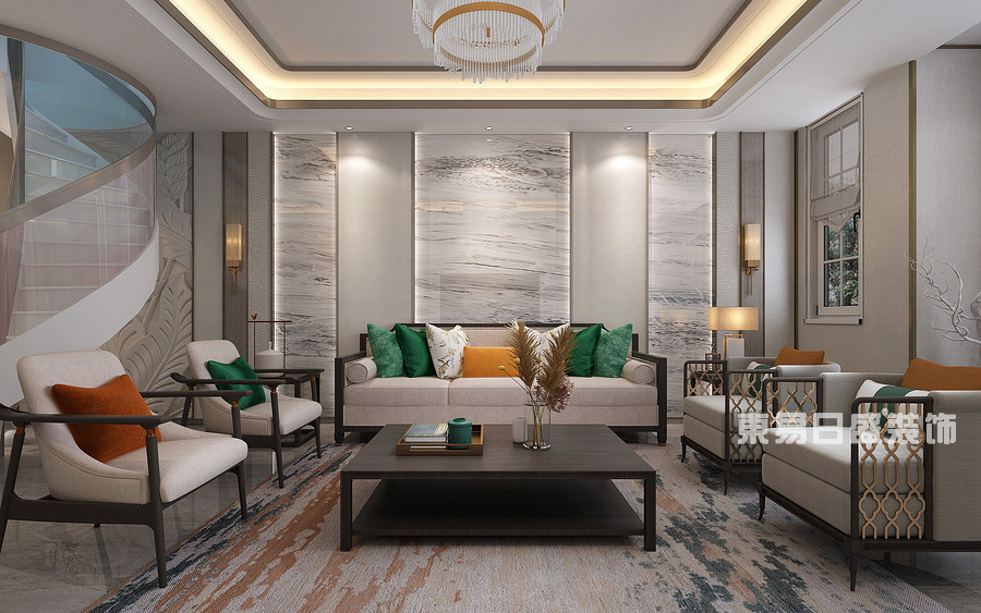 泰安泰山御园-新中式轻奢-客厅