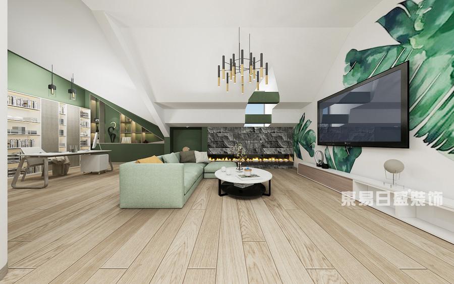 泰安泰山御园-新中式轻奢-二楼起居室